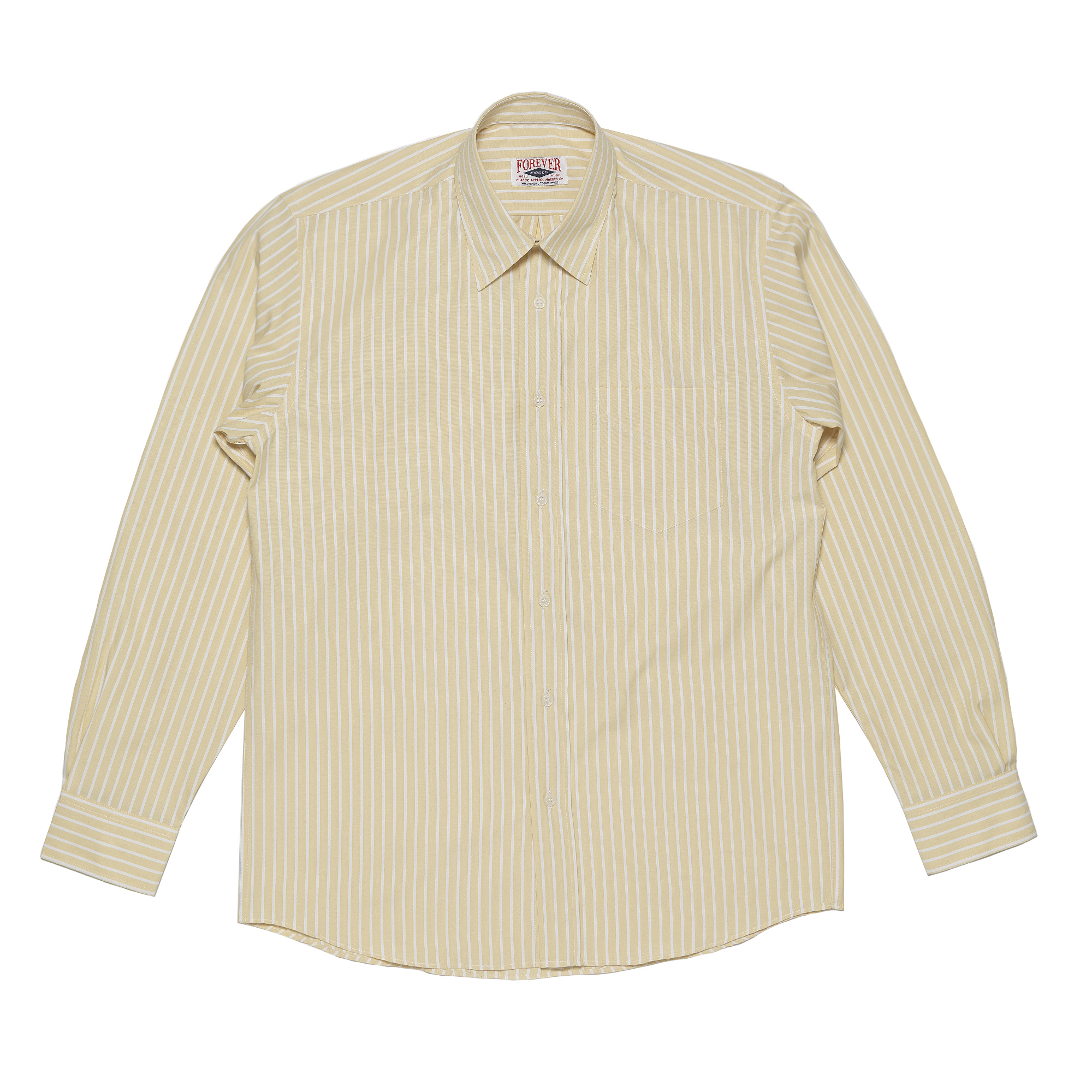 Yellow – white stripes shirt | Forever Classic Apparel Co.